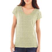 Liz Claiborne® Short-Sleeve Tee