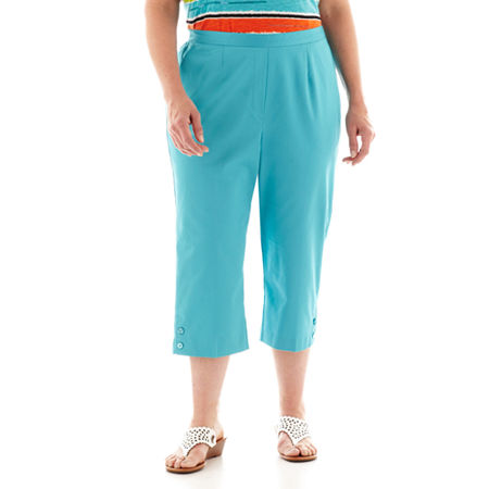 Alfred Dunner St. Barth's Button-Cuff Capris - Plus