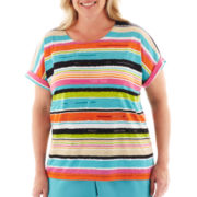 Alfred Dunner® St. Barth's Striped Top - Plus