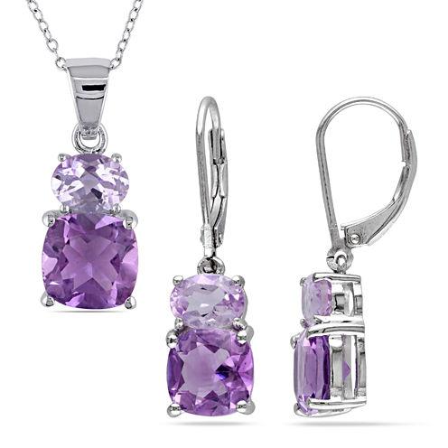 Womens 2-pc. Purple Amethyst Sterling Silver Jewelry Set