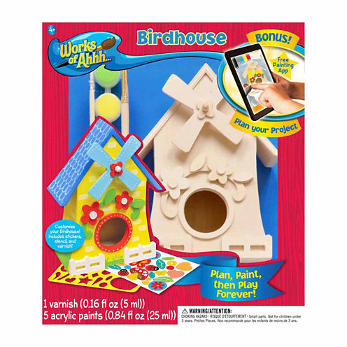 Masterpieces Puzzles Works of Ahhh... Wood Painting Kit - Birdhouse