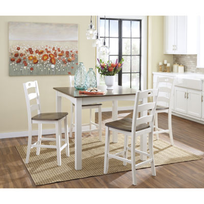 Signature Design By Ashley® Woodanville 5 Piece Square Counter Height  Dining Set