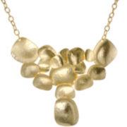KJL by KENNETH JAY LANE 20K Gold-Plated Flat Disc Bib Necklace