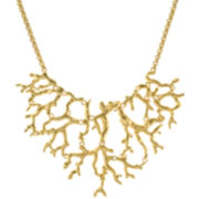 KJL by KENNETH JAY LANE 20K Gold-Plated Branch Bib Necklace