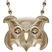 dom by dominique cohen Gold-Tone Onyx Owl Pendant