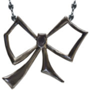 dom by dominique cohen Gunmetal Bow Pendant Necklace