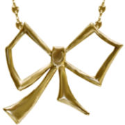 dom by dominique cohen Gold-Tone Bow Pendant