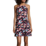 Decree® Sleeveless Swing Dress- Juniors