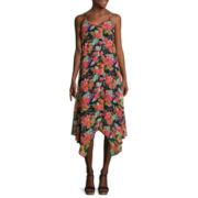 Decree® Strappy Handkerchief Dress - Juniors Plus