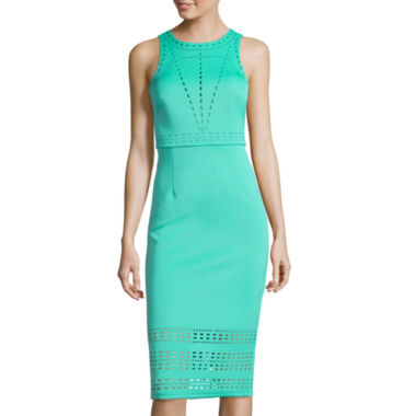 jcpenney.com | Spense Sleeveless Laser Cutout Dress