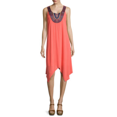jcpenney.com | a.n.a® Embroidered High-Low Tank Dress