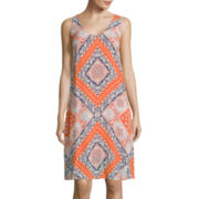 Luxology Sleeveless Print Shift Dress