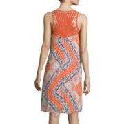 Luxology Sleeveless Print Shift Dress