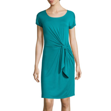 jcpenney.com | Spense Short-Sleeve Knot-Waist T-Shirt Dress