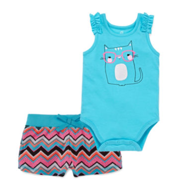 jcpenney.com | Okie Dokie® Sleeveless Bodysuit or Pull-On Shorts
