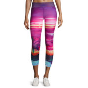 City Streets® Performance Allover Print Crop Leggings