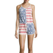 Sleeveless Americana French Terry Romper