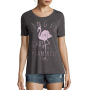 Hybrid Short-Sleeve High-Low Graphic Tee