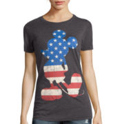 Mighty Fine Short-Sleeve Mickey Mouse Burnout Tee