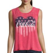 Hybrid Burnout Graphic Muscle Tank Top
