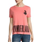 Disney Short-Sleeve Alice in Wonderland Drapey Tee