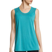 Liz Claiborne® Embroidered Tank Top