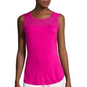 Liz Claiborne® Crochet Tank Top
