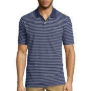 St. John's Bay® Short-Sleeve Striped Jersey Polo