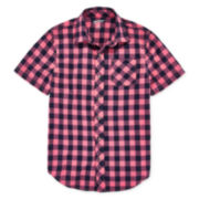 Arizona Short-Sleeve Classic Button-Front Shirt - Boys 8-20 and Husky