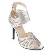N.Y.L.A. Shion Laser-Cut Dress Sandals