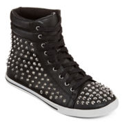 N.Y.L.A. Cateline Studded High-Top Lace-Up Sneakers