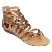 N.Y.L.A. Shyne Strappy Lace-Up Sandals