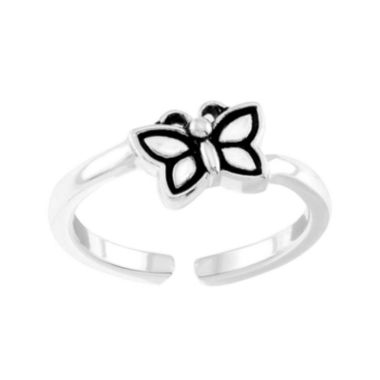 jcpenney.com | itsy bitsy™ Sterling Silver Butterfly Adjustable Toe Ring