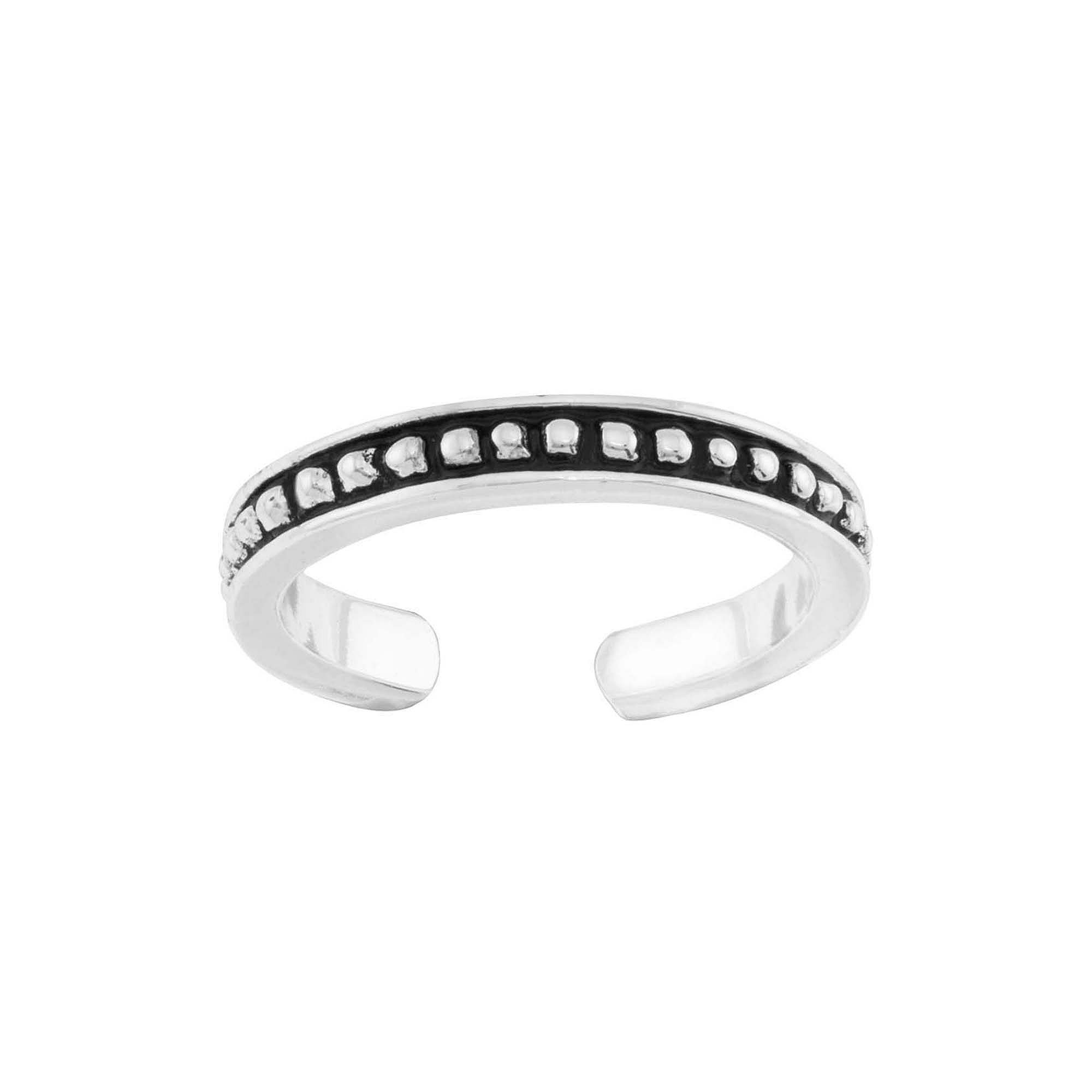 itsy bitsy™ Sterling Silver Bead-Look Adjustable Toe Ring