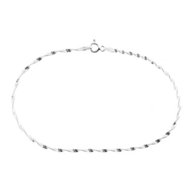 jcpenney.com | itsy bitsy™ Sterling Silver Spiral Twist Chain Anklet