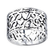 Footnotes® Sterling Silver Love Always Ring