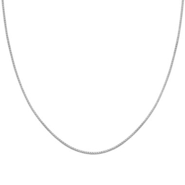"jcpenney.com | Silver Reflections™ Sterling Silver 24"" Box Chain Necklace"