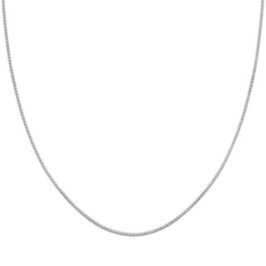 "jcpenney.com | Silver Reflections™ Sterling Silver 30"" Box Chain Necklace"