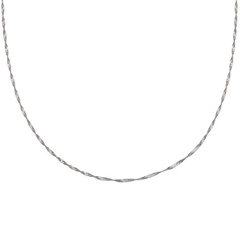 """Silver Reflections™ Sterling Silver 18"""" Singapore Chain Necklace"""