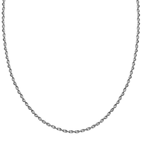 """Silver Reflections™ Sterling Silver Butterfly Twist 18"""" Chain Necklace"""