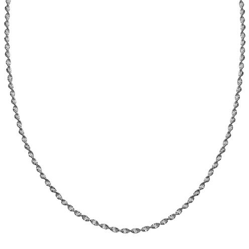 "Silver Reflections™ Sterling Silver Butterfly Twist 24"" Chain Necklace"