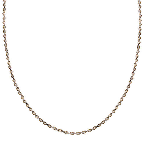 """Silver Reflections™ Two-Tone Sterling Silver Butterfly Twist 18"""" Chain Necklace"""