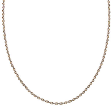 "jcpenney.com | Silver Reflections™ Two-Tone Sterling Silver Butterfly Twist 20"" Chain Necklace"