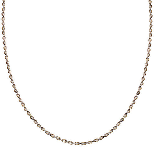 """Silver Reflections™ Two-Tone Sterling Silver Butterfly Twist 30"""" Chain Necklace"""