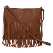 Arizona Americana Fringe Feather Crossbody Bag