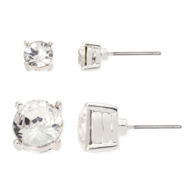 jcpenney.com | Vieste® Crystal 2-pr. Stud Earrings Set