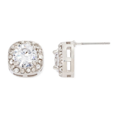 jcpenney.com | Vieste® Crystal Square Frame Stud Earrings