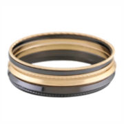 Liz Claiborne® Hematite & Gold-Tone Bangle Set