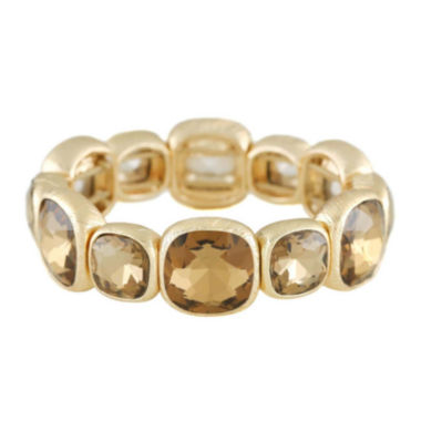 jcpenney.com | Monet® Brown Stone Gold-Tone Stretch Bracelet