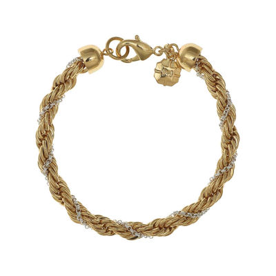 Monet GoldTone and SilverTone Twist Flex Chain Bracelet JCPenney